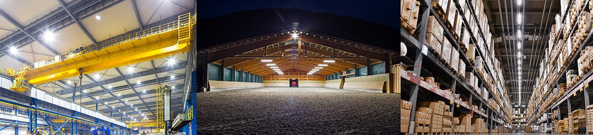 Lagerhalle mit Hallenleuchten